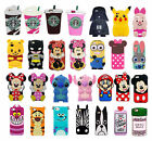 3D Cartoon Animals Gel Soft Silicone Rubber Case Cover Skin For iPhone 7 Samsung