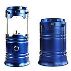 LED Rechargeable Solar Lantern Tent Light Collapsible For Outdoor Camping Hiking