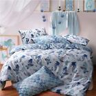 Mermaid Queen Blue Reversible Duvet Cover Quilt Bedding Set Pillowcases All Size image
