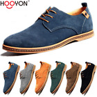Men Oxfords Casual Shoes Suede European Style Leather Shoes Lace Up Flats Loafer