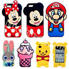 Disney 3D Cartoon Soft Silicone Rubber Cover Case Skin For iPhone/Samsung/Sony