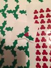 40 Holly And Berry Glass Vinyl Stickers / Decal Party Wchristmas