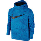 Nike Soccer 2017 GPX Therma FIT Hooded Top Hoodie Brand New Blue Kids - Youth