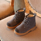 Fashion Kids Shoes Girl Boy Lace-up Ankle Boots Vintage Casual Shoes Snow Boots