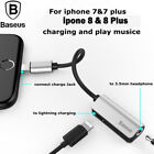 Baseus 2 in 1 Lightning to 3.5mm AUX Adapter iPhone 7 8 P Charging Music Cables