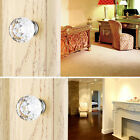 Door Knob Handles Clear Crystal Glass Cupboard Drawer Cabinet Kitchen Home Tool