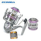 Ecooda Spinning Fishing Reels Metal Body Two Aluminum Spools Carbon Fiber Drag