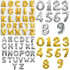 """40"""" LARGE FOIL LETTER BALLOONS NUMBER BALLOON FLOAT HELIUM ALPHABET SILVER GOLD"""