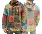 New Hoody Baja Jacket Pullover Top Patchwork Design 100% Cotton Nepalese