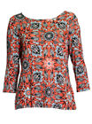 Marks and Spencer Orange Printed Jersey Top