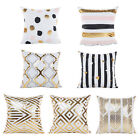 Bronzing Cushion Cover Pillow Decor Pillow Case Home Square Sofa Gold Printed