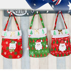 HOT Xmas Christmas Fabric Santa Lollies Gift Pouch Lollies bag Party Decoration