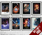 A3/A4 Size * STAR WARS  Movie Posters * Episode 1 to 8 Wall Art Prints £7.99 GBP