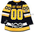 PITTSBURGH PENGUINS ANY NAME  NUMBER ADIDAS ADIZERO HOME JERSEY AUTHENTIC 100TH