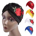 Women Indian Style Rose Flower Turban Hat Chemo Cancer Hair Loss Cap Wrap LJ