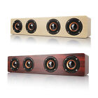 Bluetooth 4.0 Wooden Hi-Fi Loud Speaker FM Radio 12W Wireless 3000mAh Red/Yellow