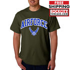 AIR FORCE ARCHED MILITARY GREEN T-SHIRT Shirt Wings USAF USA Airforce Tshirt