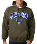 AIR FORCE ARCHED MILITARY GREEN HOODIE Airforce Hooded Sweatshirt Pullover USAF