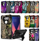 Rugged Dual Layered Case w/Stand Cover for LG V30 V30S V35 ThinQ V30+