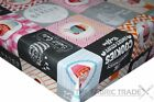 Cookies & Coffee Bakery PVC Tablecloth Vinyl Oilcloth Kitchen Dining Table