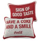 Exclusive COCA COLA Collectible Pillow with Coke Sayings Double Sided