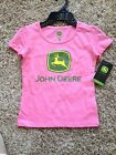 NWT Pink John Deere T-Shirt 2T - 6X 100% Cotton In picture