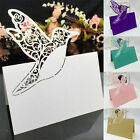 X50 Pack Wedding Party Pearlescent Laser Cut Butterfly Place Card Table Name Pro