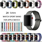 Sports Royal Woven Nylon Wrist Band Strap Bracelet For Apple Watch 38mm 42mm image
