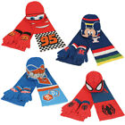 DISNEY Kinder Winter 3er Set Mütze Schal Handschuhe Cars Mickey Planes Spiderman