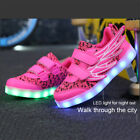 LED Light up Shoes Boys Girls USB Charging Kids Luminous Trainers Casual Sneaker