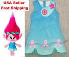 2018 Summer Trolls Dress Poppy Cosplay Costumes Kids Party Birthday Fancy O38 image