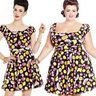 Hell Bunny Tutti Frutti Summer Mini Dress Fruit Pin Up Rockabilly Retro Vintage