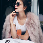 Real Ostrich Feather Fur Coat Jacket Warm Outwear Overcoat Slim Free Shipping