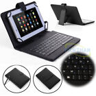 "Keyboard Folios w/ Micro USB PU Leather Case Cover For 7"" - 10.1"" inch Tablet PC"
