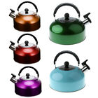 Deluxe 3L Whistling Kettle for Camping Boat or Home Gas Electric Hot Plate