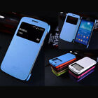 Window Snap On PU Case Cover For Samsung Mega 6.3 i9200 SGH-i527 Wake Sleep New