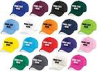 Kids Personalised Baseball Cap - Printed Customised Novelty Hat Party Girls Boys