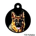 German Shepherd-Custom Personalized Pet ID Tag for Dog & Cat Collars & Harnesses