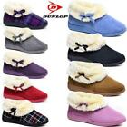 Ladies Dunlop Slippers Women Winter Warm Fur Wide Fit Ankle Boots Bootie Shoes