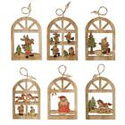 kids christmas ornaments crafts - Christmas Wooden Pendants Shapes Decoration Xmas Tree Ornaments Kids Gifts Craft
