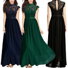 Chiffon Formal Evening Bridesmaid Dresses Party Prom Gown Lace Maxi Dress 6-18