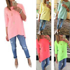 Autumn Women Loose 3/4 Sleeve Causal Tunic Tops Blouse T-Shirt Plus Size Tee US