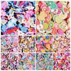 1000pcs 3D Nail Art Fimo Stick Rods Polymer Clay Stickers Tips Decoration New UK