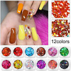 Holographic Nail Art Glitter Sequins Four Angle Stars Iridescent Flakes Tips DIY