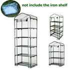Greenhouse Garden Mini Frame PVC Cover Roll Up Front Grow Plants Outdoor