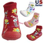 Kyпить Infant Baby Girls Flowers Anti-slip Rubber First Walking Sock Shoes  на еВаy.соm