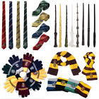 Magic Wand Scarf Ties Gloves Harry Potter Costumes Cosplay SET Kids Xmas Gift
