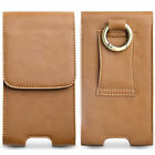 Real Leather Belt Clip Vertical Pouch Case Cover For Samsung iPhone Cell Phone