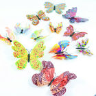 3D Butterfly Wall Stickers Fridge Magnet Wall or Window Butterflies 18PCS UK