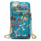 New All-In-One Women Faux Leather Crossbody Bag Wallet Wristlet Pouch Phone Case